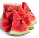 Slice of watermelon. On a white background royalty free stock images
