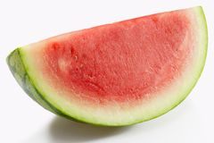 Slice of Watermelon. Slice of fresh watermelon on white background Stock Photography