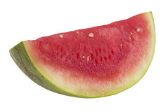 Slice of Watermelon. Hand made clipping path included stock photo