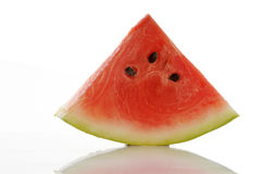 Slice of watermelon. On white stock image