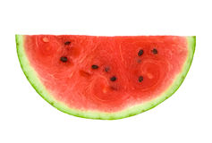 Slice of Watermelon. Slice of ripe watermelon isolated over white background stock images