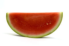 Slice watermelon. A slice of watermelon isolated on a white background Stock Images