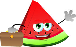 A slice of watermelon as businessman Stock Image