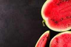 Slice watermelon Stock Photos