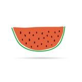 Slice of watermelon cartoon  Stock Image