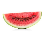 Slice of watermelon close-up isolated Royalty Free Stock Photography