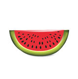Slice of watermelon isolated on white Royalty Free Stock Images