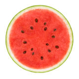 Slice of watermelon. Isolated on white background royalty free stock images