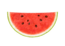 Slice of watermelon. Isolated on white background Stock Photo