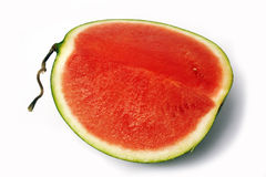 Slice of watermelon isolated Stock Image
