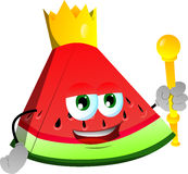 A slice of watermelon king Stock Photos