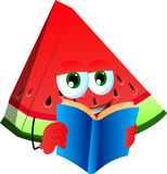 A slice of watermelon pepper reading Royalty Free Stock Image