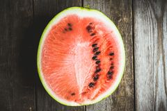 Slice of watermelon. Selective focus. Shallow depth of field royalty free stock photography