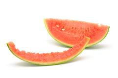 Slice of watermelon and skin Royalty Free Stock Image
