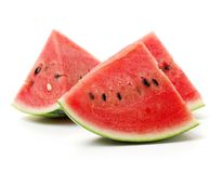 Slice of watermelon. On white background stock photography