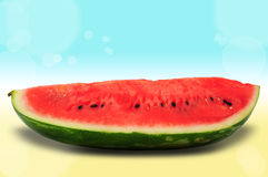 Slice of watermelon on summer background Stock Photo