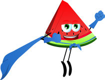 A slice of watermelon superhero Stock Images