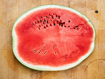 Slice of watermelon on the table Royalty Free Stock Images