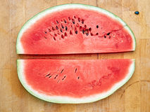 Slice of watermelon on the table Stock Image