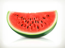 Slice of watermelon, vector icon Royalty Free Stock Photo