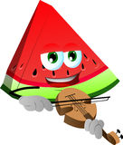 A slice of watermelon with violin Stock Photography