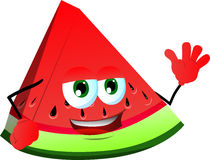 A slice of watermelon waving Stock Image