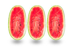Slice of watermelon on white background Royalty Free Stock Images