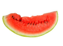 Slice of watermelon on white background Stock Images
