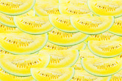 Slice  watermelon Yellow on white background Stock Photos