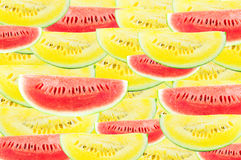 Slice  watermelon Yellow on white background Stock Image