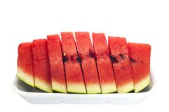 Slice of watermelons Stock Photos