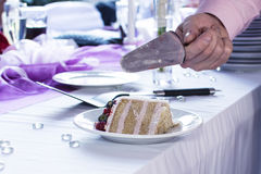 Slice of Wedding Cake Stock Photography