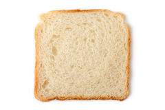 Slice of wheat toast bread. Placed on white background Stock Photography