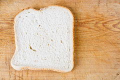 A slice of white bread Stock Images
