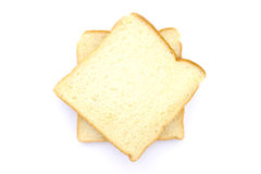 Slice of white bread Royalty Free Stock Photos