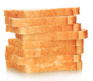 Slice of white bread Stock Image