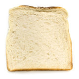 Slice of White Bread Isolated Top View Stock Images