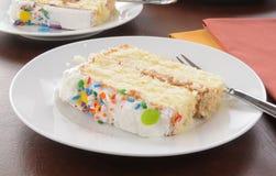 Slice of white cake Stock Photo