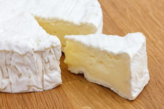 Slice of white cheese cut Stock Photo