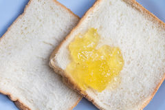 Slice of white toast Stock Photography