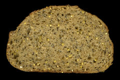 Slice of whole grain bread Stock Images