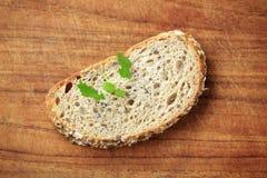 Slice of whole grain bread Stock Image