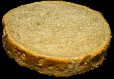 Slice of whole-grain bread Royalty Free Stock Photography