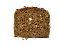 Slice of whole grain brown bread Royalty Free Stock Photo