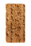 Slice of whole grain crispy rye bread isolated on white Royalty Free Stock Images