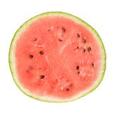 Slice of whole watermelon isolated Stock Photography