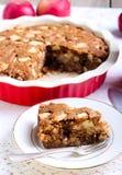 Slice of whole wheat apple cake Royalty Free Stock Photo