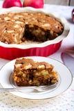 Slice of whole wheat apple cake Stock Photos