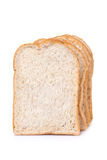 Slice of whole wheat bread for background Royalty Free Stock Photography