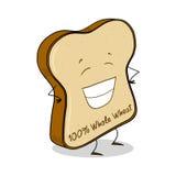 Whole wheat bread slice illustration. Whole wheat bread slice; Bread slice cartoon Royalty Free Stock Photos